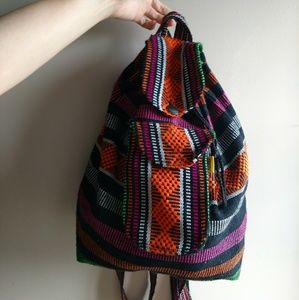 Made In Mexico Woven Backpack